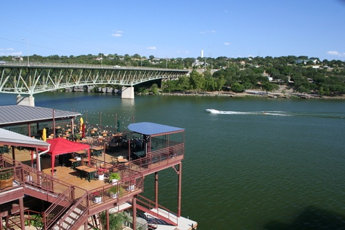 Marble Falls With The Deck From River City Grill On Lake