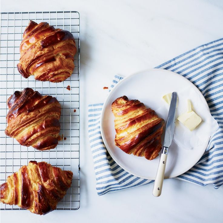 Food & Wine's croissant recipe can be made up to 30 days ahead of time.