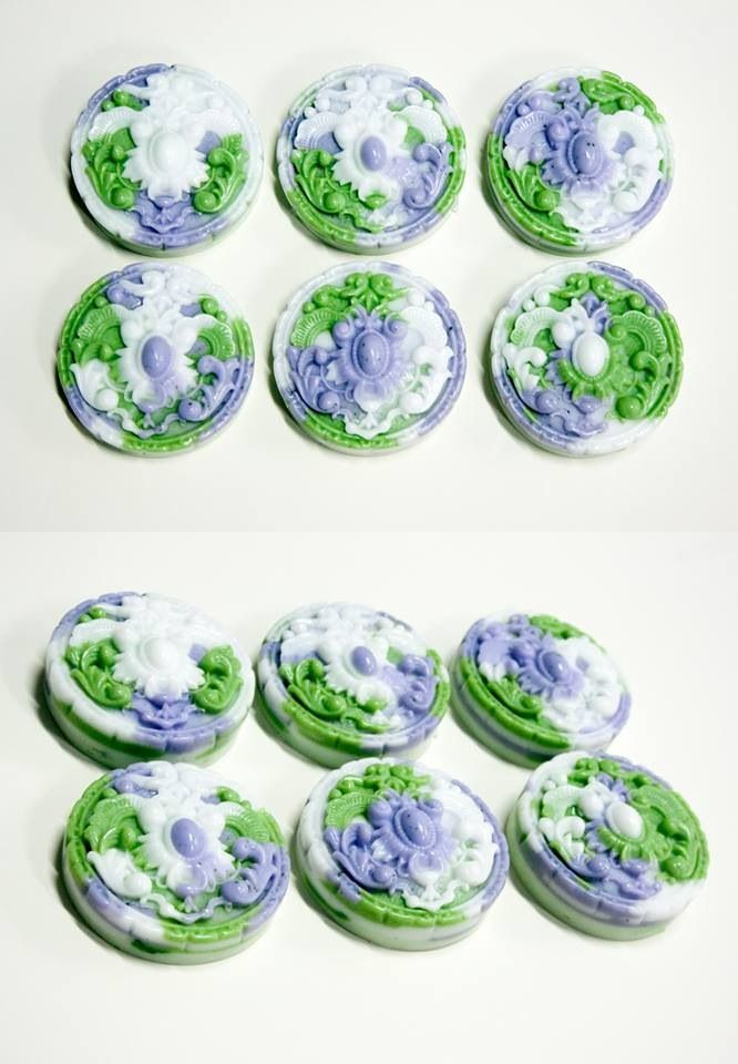 :: Blueberry Lavender Garden ::  Handmade DIY MP Art Soap No.4 by Hazzi