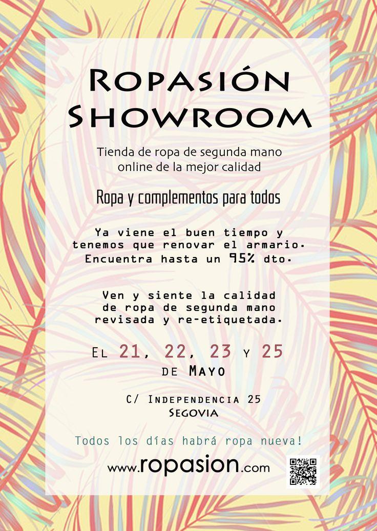 Un evento para recordar! Ropa de segunda mano de calidad online en tus manos. www.ropasion.com