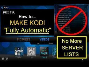 "How to make KODI ""Fully Automatic""... - YouTube"