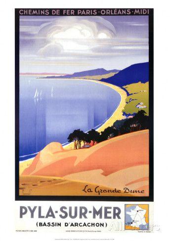 Pyla-sur-Mer Reproduction d'art