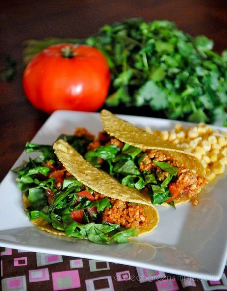 15 Healthy Vegan Tacos Maybe with soyrizo instead of walnuts