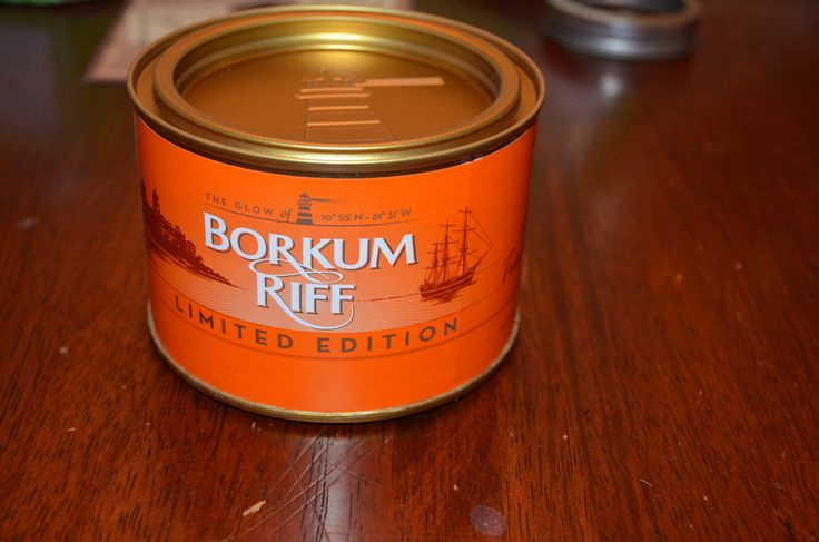 Borkum Riff - Limited Edition 11 Mixture with Trinidad Rum Ruby red and mahogany Virginas, rich black Cavendish, and a bit of Burley and fire-cured leaf are combined to form the base of this Borkum Riff's 2013 limited-edition blend, finished off with a topping of Trinidad rum and fruit flavors.  Tobacco Reviews link http://www.tobaccoreviews.com/blend/5520/borkum-riff-limited-edition-11-mixture-with-trinidad-rum
