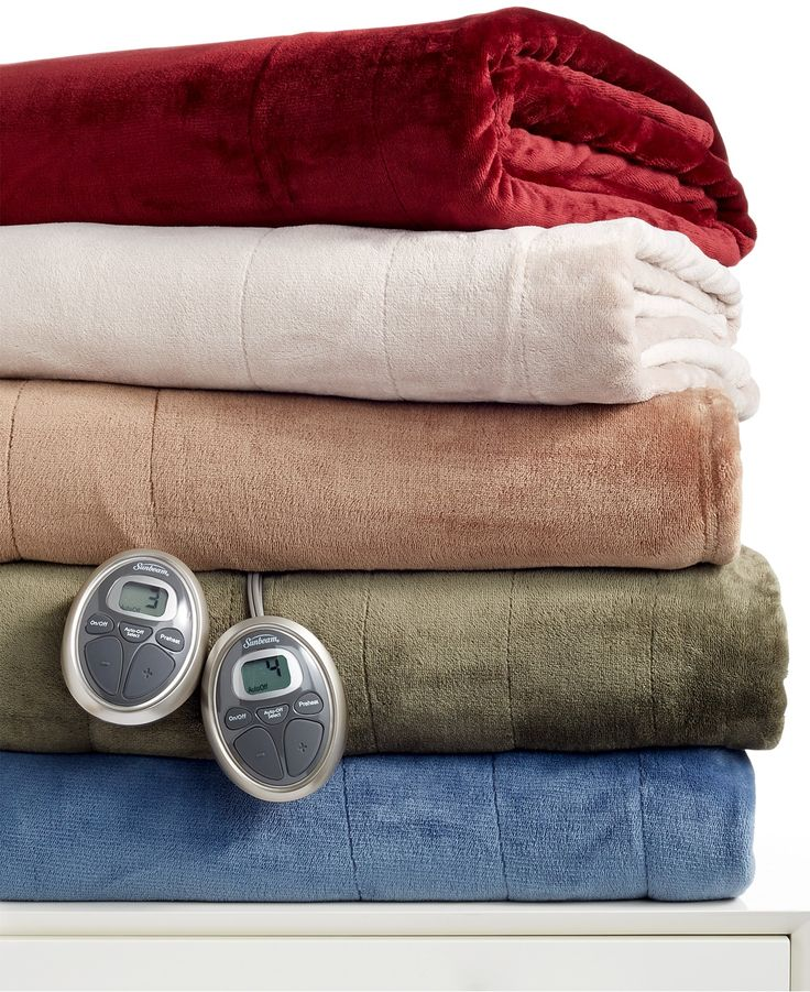 Slumber Rest Velvet Plush Heated Blankets by Sunbeam - Blankets & Throws - Bed & Bath - Macy's - Cosying up with this heated blanket will be lovely... in the house, or out on the deck, in the cooler evenings.... Lush...