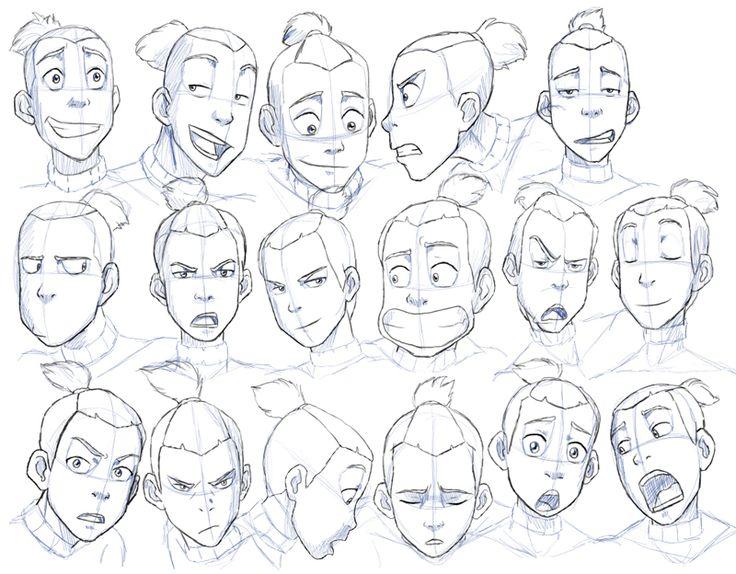 Sokka Expressions Study by ~Nylak on deviantART