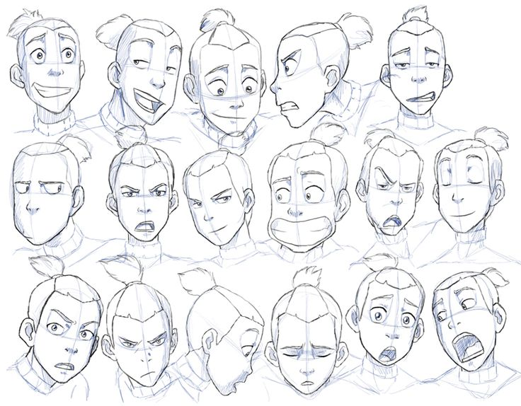 Sokka Expressions Study By Nylak Deviantart Com On Deviantart Drawing Expressions Character Design References Drawings