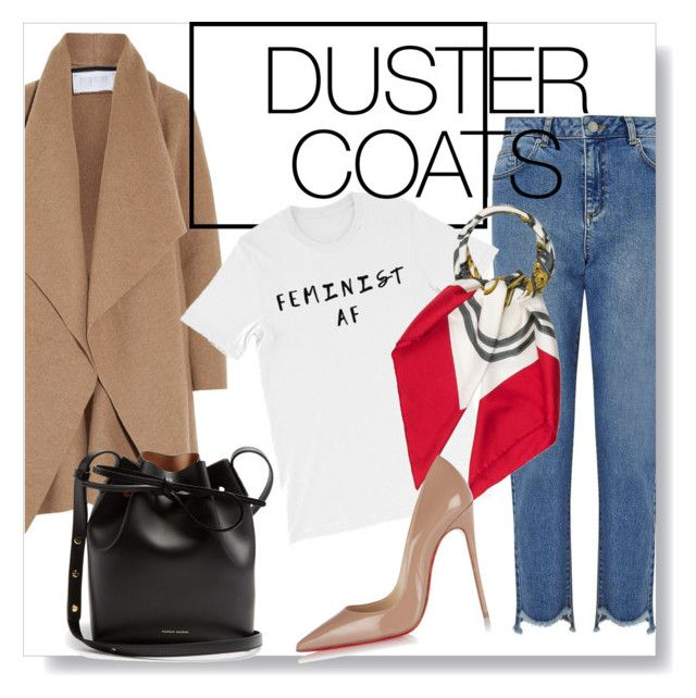 Camel duster coat by yuna-su on Polyvore featuring polyvore, fashion, style, Harris Wharf London, Miss Selfridge, Christian Louboutin, Mansur Gavriel, Hermès and clothing
