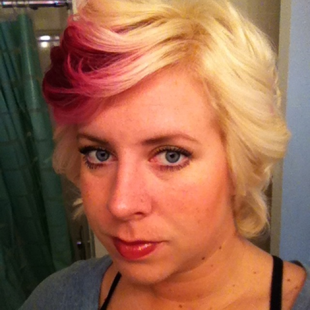 Hair style, short hair, pink color