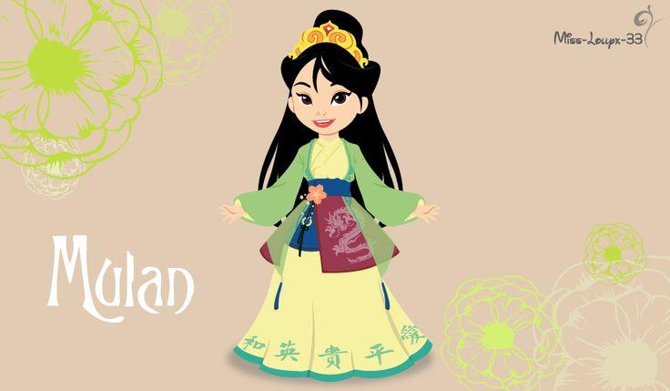 Disney Princess Young (Warrior) ~ Mulan by miss-lollyx-33.deviantart.com on @DeviantArt