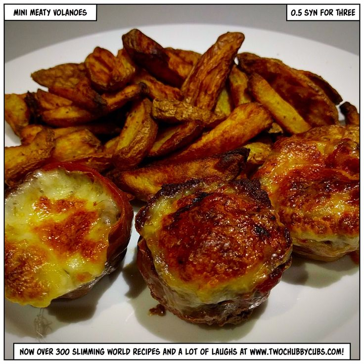 Please like and share! Taster night idea time! Make these fancy mini meat volcanoes - an open meatball wrapped in parma ham, filled with cheese and sauce and grilled to perfection. Remember, at www.twochubbycubs.com we post a new Slimming World recipe nearly every day. Our aim is good food, low in syns and served with enough laughs to make this dieting business worthwhile. Please share our recipes far and wide! We've also got a facebook group at www.facebook.com/twochubbycubs - enjoy!