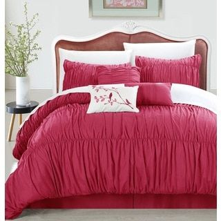 $53.99 (Do I like this??) Shop for Chic Home Frances 7-piece Pink Pleated and Ruffled Comforter Set. Get free shipping at Overstock.com - Your Online Fashion Bedding Outlet Store! Get 5% in rewards with Club O!