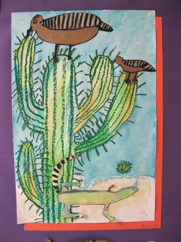 Desert collage- cactus hotel (book) by Brenda Gulberson ...