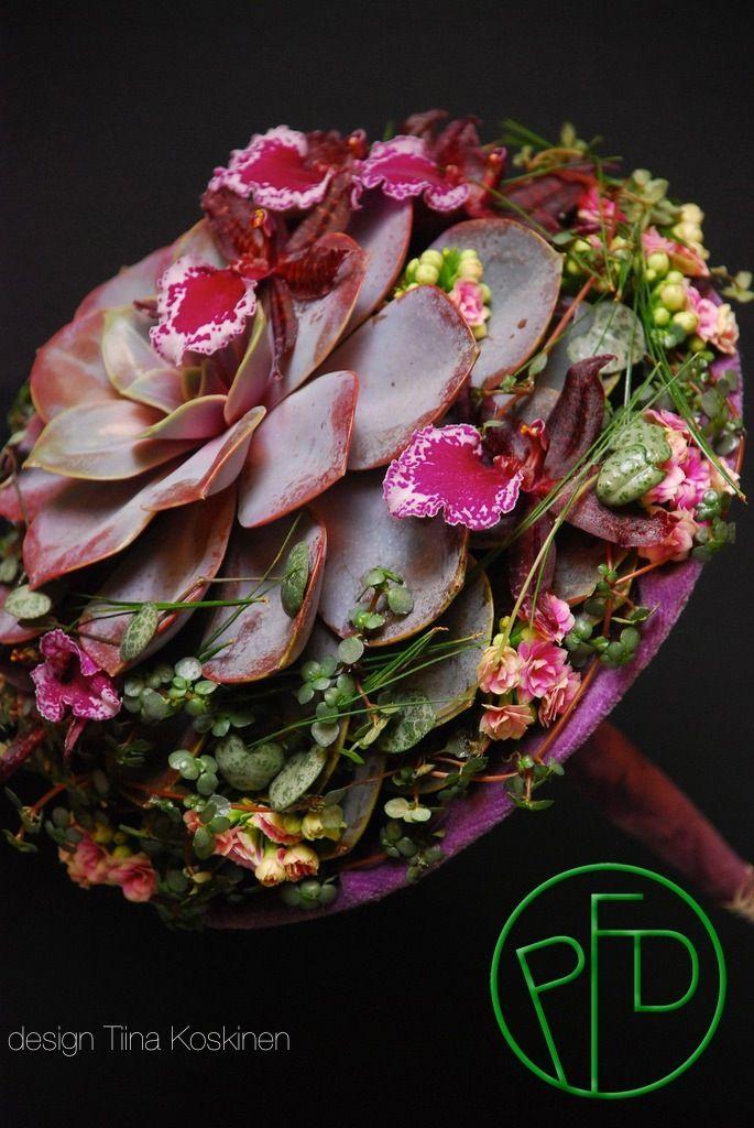 Succulent wedding bouquet ~ Tina Koskinen - The Most Beautiful Wedding Bouquet 2014.