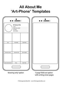 004 Image result for all about me art phone template pdf
