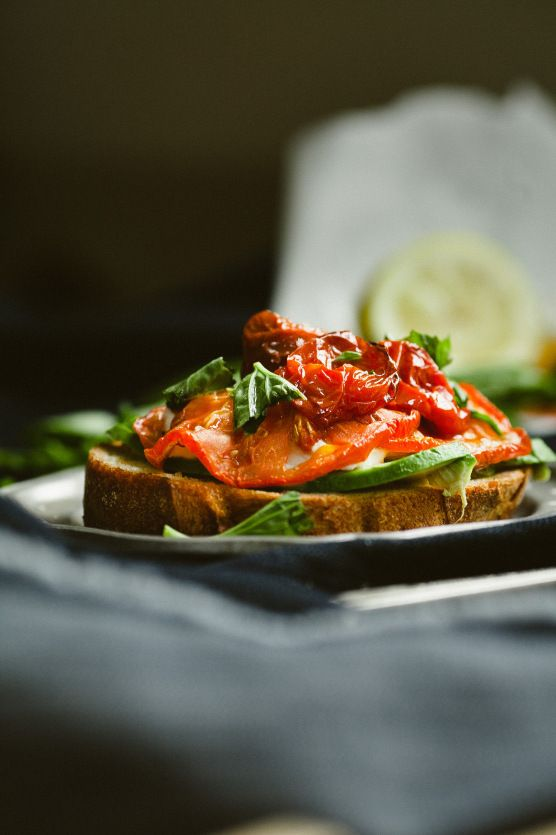 Roasted Tomato Caprese with Avocado // Not Without Salt