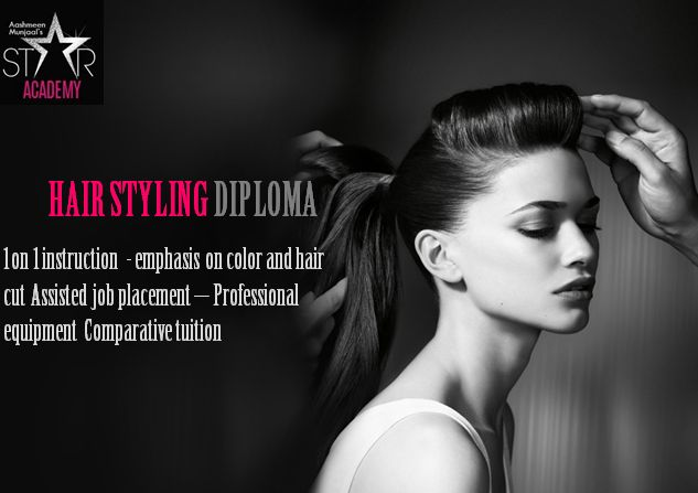 HairStyling‬ ‪‎Courses‬ -1 on 1 instruction - emphasis on color and hair cut Assisted job placement – Professional equipment Comparative tuition