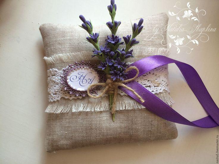 Купить подушечка для колец с лавандой и монограммой - фиолетовый, лавандовый, подушечка с лавандой, свадьба лаванда