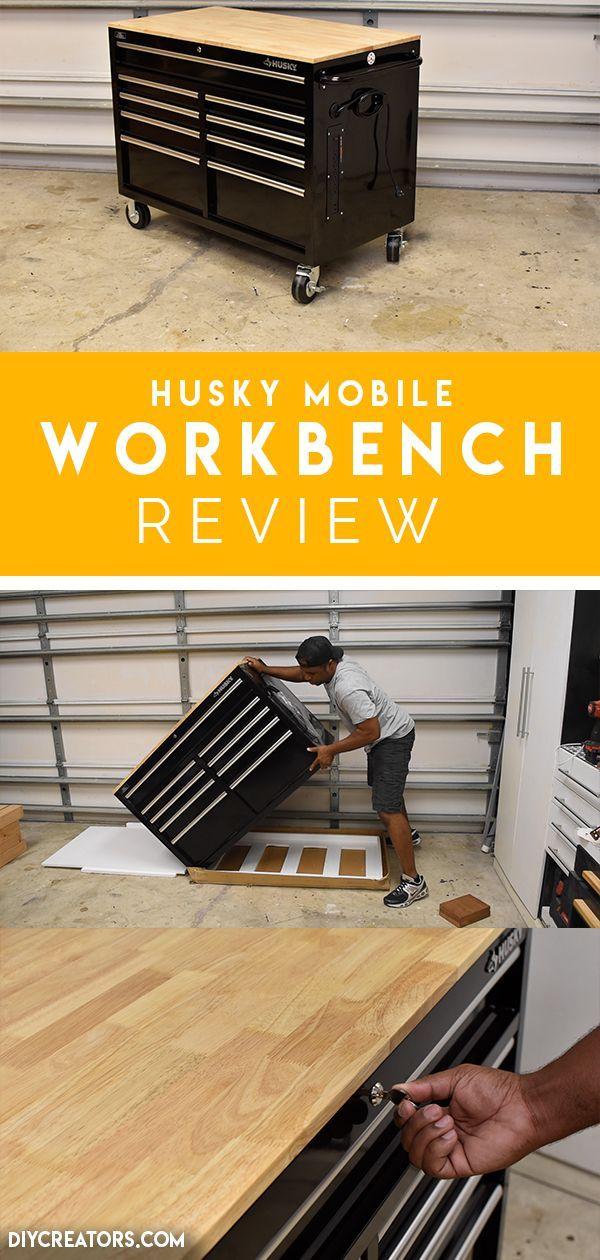 Husky Workbench With 9 Drawers Of Storage Locking Casters Lock