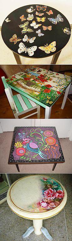Как украсить стол своими руками: реставрация, как сделать декор, декупаж, роспись, фото, видео-инструкция
