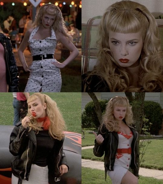 """Cry-Baby (1990). Wanda Woodward (played by ex-porn star Traci Lords), runs away from her square parents and likes """"hot boys with roaming hands and rushing fingers!"""""""
