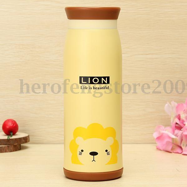 500ml Mignon Animal Mug Bouteille Tasse Bottle Thermos Eau Lait Isotherme Sport
