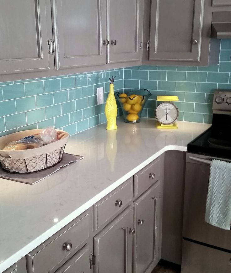 Sage Green Glass Subway Tile