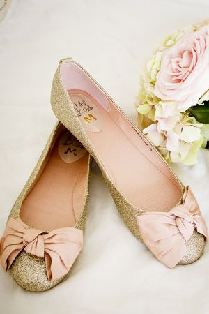 KG by Kurt Geiger sparkly bridal ballet pumps. Photos by @TheImageGarden...