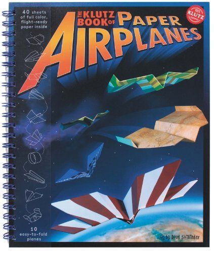 Klutz Book of Paper Airplanes by Doug Stillinger, http://www.amazon.com/dp/1570548307/ref=cm_sw_r_pi_dp_J1zOqb19XNPAC