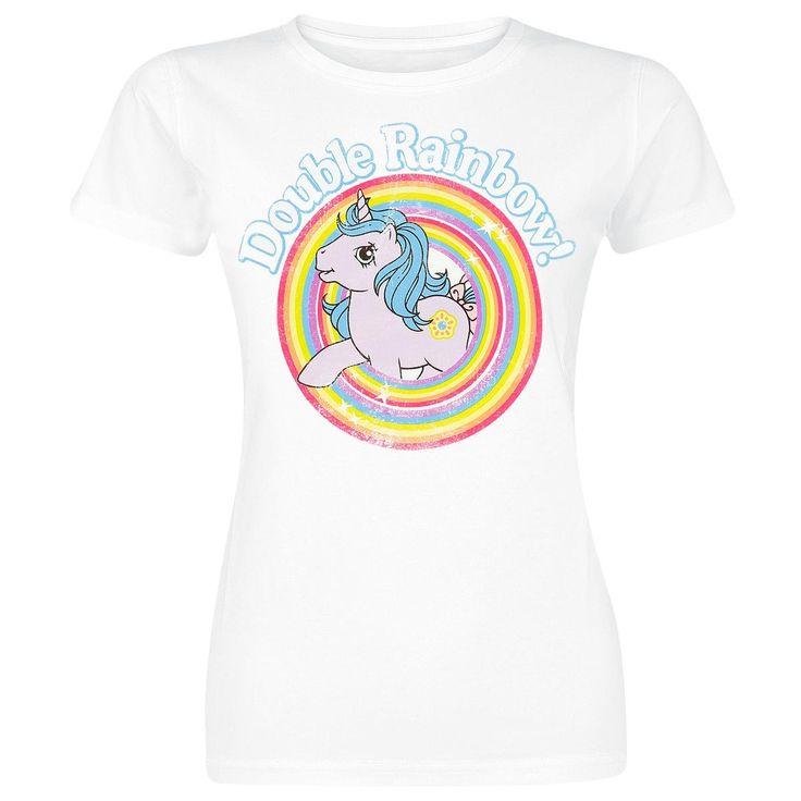 Double Rainbow - Naisten T-paita - My Little Pony <3 <3 <3 Käy muunlaisetkin 80-/90-luvun MLP-kuvalla varustetut t-paidat tai topit. :)