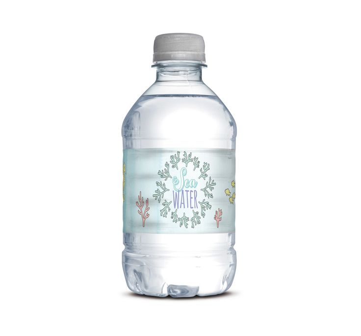 """A Mermaid birthday party would not be complete without these adorable """"Sea Water"""" Mini Water Bottle Wraps. These fit the miniature water bottles from Trader Joe's. Please note that nothing will be shipped to you. You will be emailed a high resolution digital file. You can download your file once your item is being processed. You will need Adobe Reader to view and print your files. (you can download a free copy here:Adobe Reader) Please complete the form to place your order."""