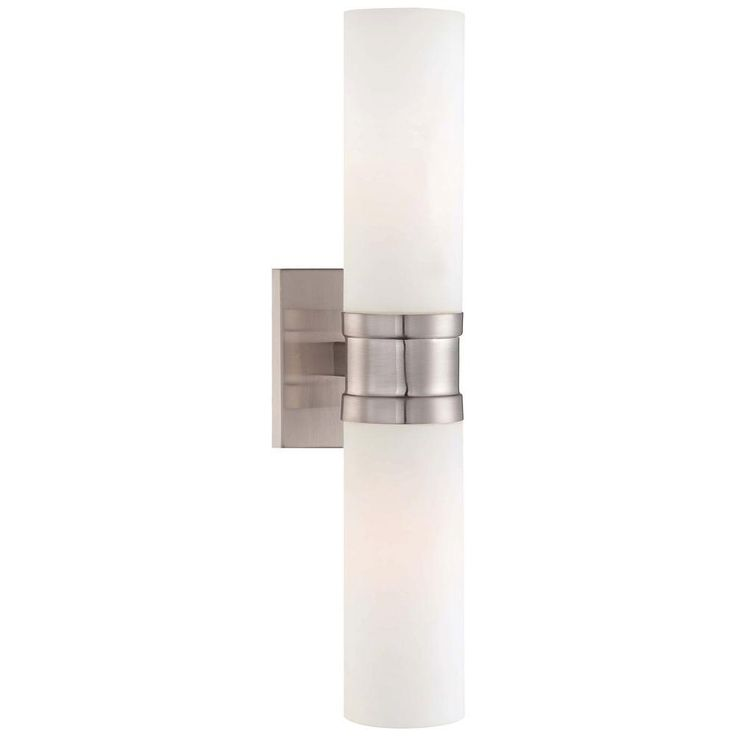 Images Photos Minka Lavery Light Brushed Nickel Sconce The Home Depot