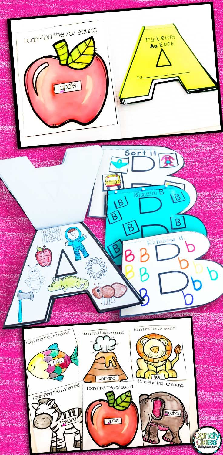 What a fun way to teach the alphabet! These alphabet shaped books turn letter recognition, handwriting, and beginning sound activities into arts and crafts! This flip book can be used in an interactive notebook or stand solo! Includes find the letter printable too! No prep possible too!