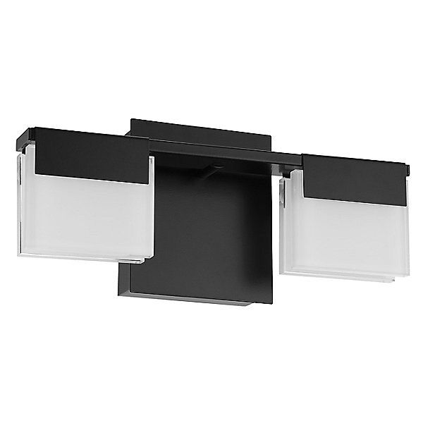 Carmelina Led Vanity Light By Huxe Color White Finish Matte Black Ewl1927762 In 2020 Led Vanity Lights Led Vanity Vanity Lighting