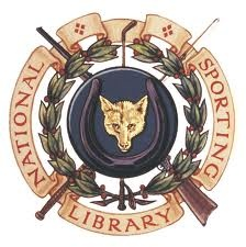 """Logo for the """"National Sporting Library"""" in Middleburg, Virginia."""