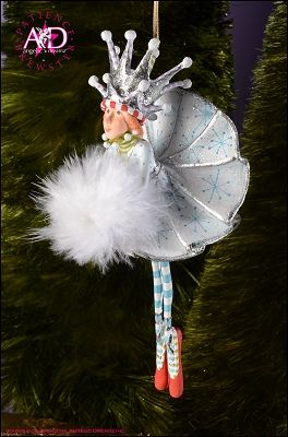 2014 Patience Brewster Krinkles, Snow Queen Ornament
