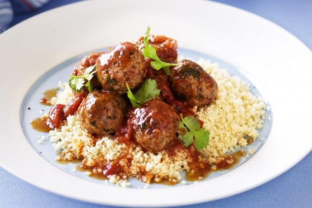Meatballs are always on the money, and spiced lamb mince with fresh coriander makes for a fun twist on a family favourite.