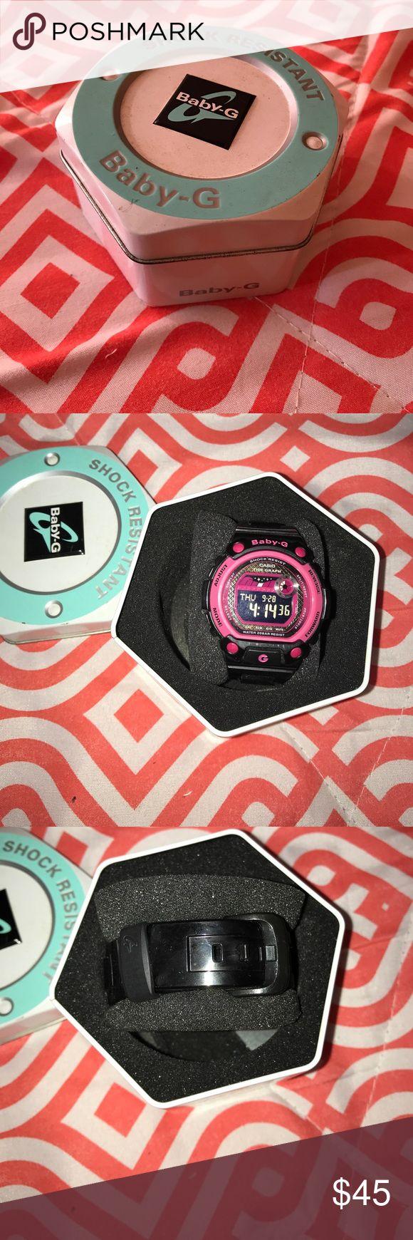 Baby G shock watch Black & Pink Baby G Shock Watch. In great condition👍 only worn 3xs. G shock Accessories Watches