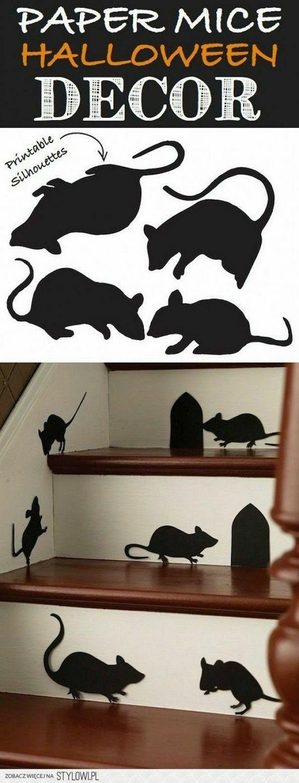 Leuk! Door de hele school overal muizen plakken!