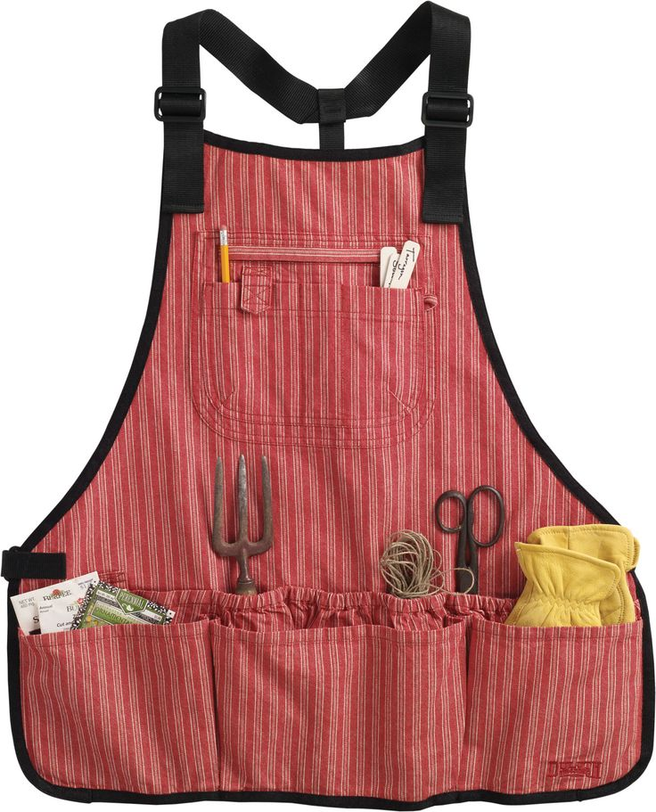 Women's Utility Apron [Duluth Trading Co]. Mesh in the bottom of the pockets for sawdust to escape!