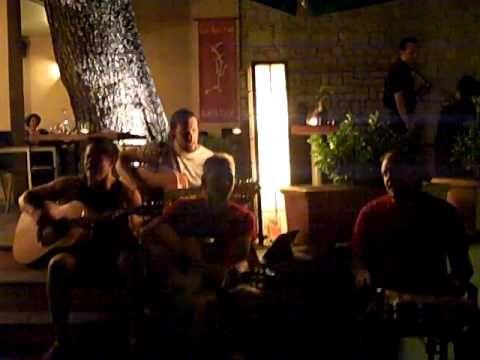 The Fallout play unplugged at Ma Cocotte, Kanoni, Corfu.