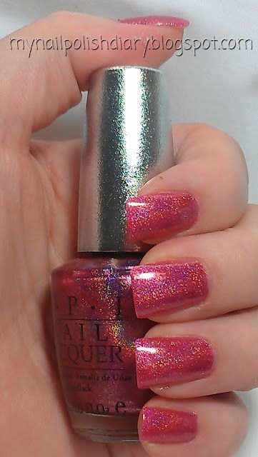 OPI DS Divine. Pink holographic!  The BEST toenail polish ever!
