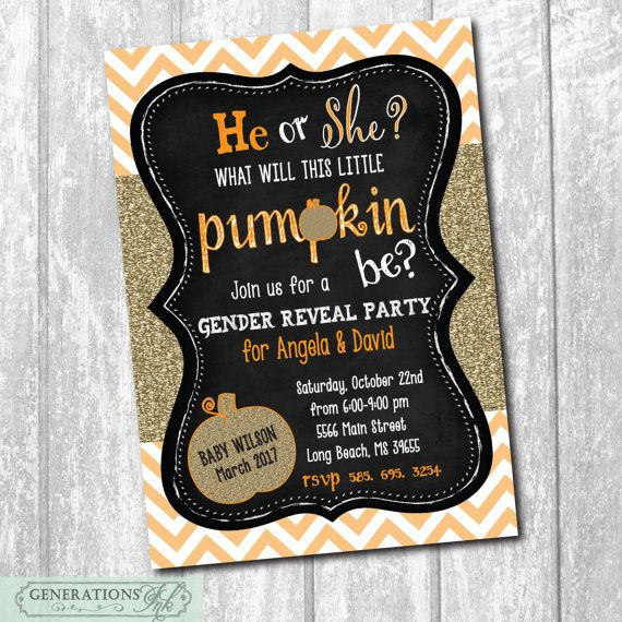 Hey, I found this really awesome Etsy listing at https://www.etsy.com/listing/477354315/fall-gender-reveal-party-invitation-with