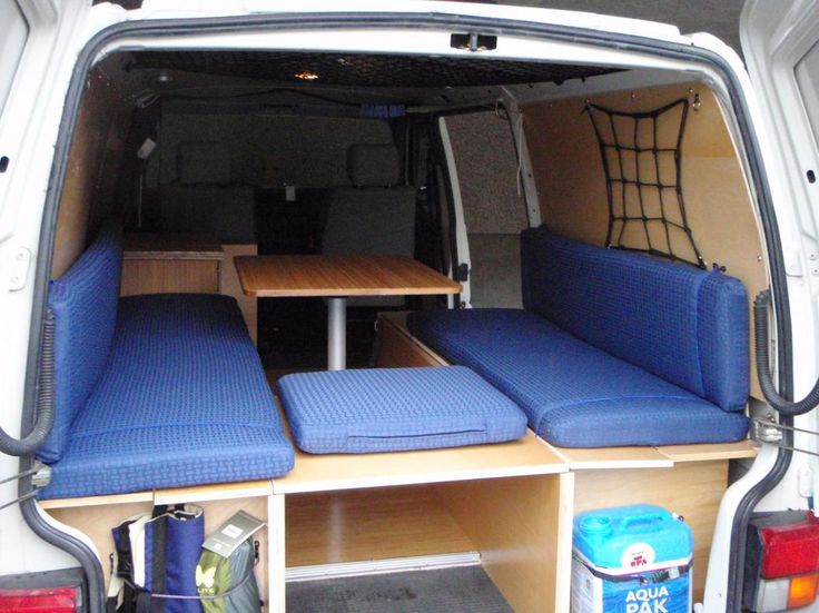 www.talkfestool.com    a vw eurovan cargo camper conversion in March 2010, British columbia by Ecofurniture