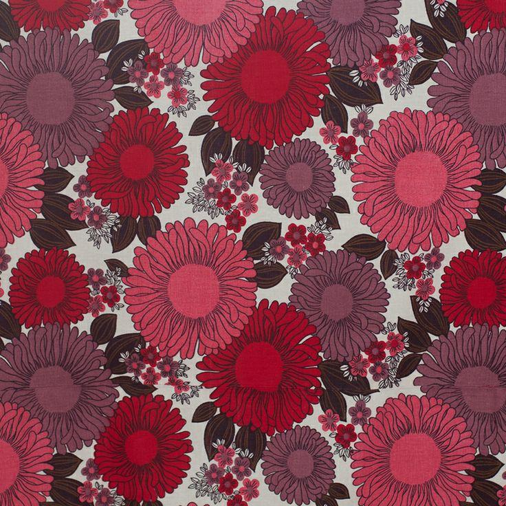 Vintage Fabric – Gerbera Daisy