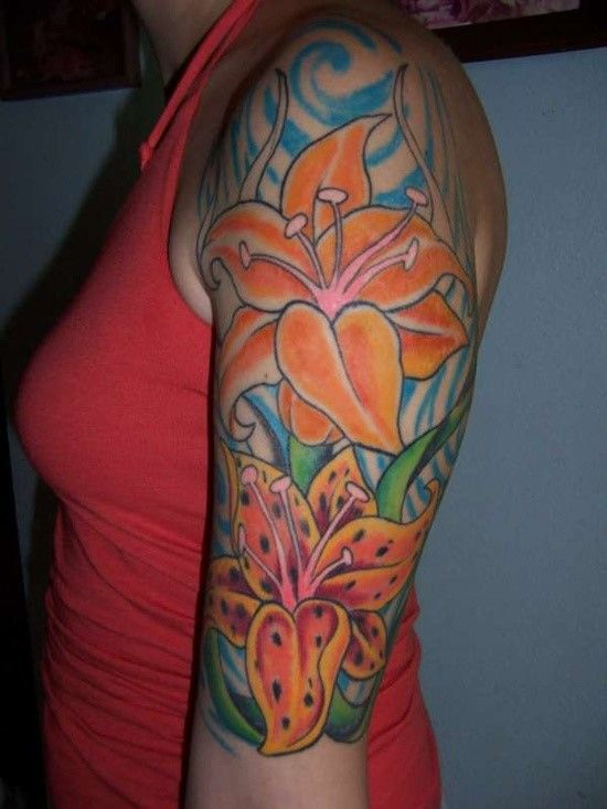 100 beautiful lily tattoos and meanings 2017 collection beautiful lilies tattoo and lilies. Black Bedroom Furniture Sets. Home Design Ideas