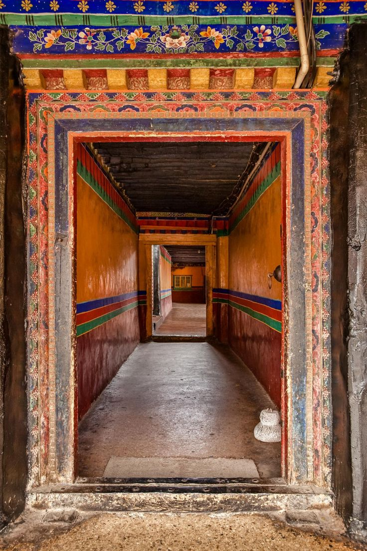 Narrow halls of the Potala Palace, Tibet.