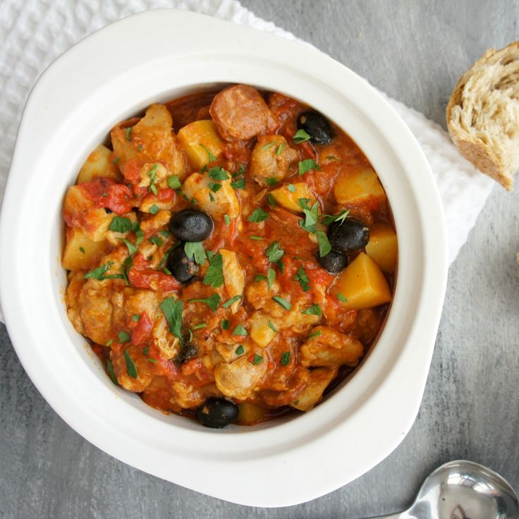 We've put together 15 recipes to use that jar of olives, like this Chicken, Chorizo and Capsicum Casserole by Kaz.