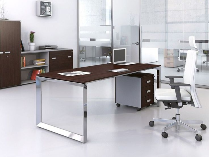 Sectional rectangular executive desk 5th ELEMENT EXECUTIVE by Las Mobili