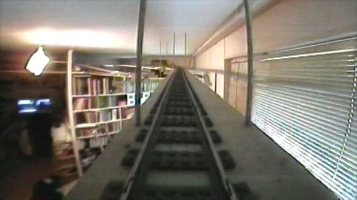 Large Lego Train 7897 layout around my livingroom, old music, 71 meters ...